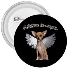 Angel Chihuahua 3  Buttons by Valentinaart