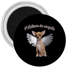 Angel Chihuahua 3  Magnets by Valentinaart