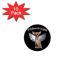 Angel Chihuahua 1  Mini Magnet (10 Pack)  by Valentinaart