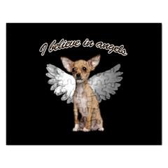 Angel Chihuahua Rectangular Jigsaw Puzzl by Valentinaart