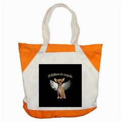 Angel Chihuahua Accent Tote Bag by Valentinaart