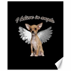 Angel Chihuahua Canvas 16  X 20   by Valentinaart