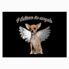 Angel Chihuahua Large Glasses Cloth (2 Side) by Valentinaart