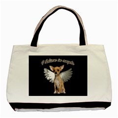 Angel Chihuahua Basic Tote Bag (two Sides) by Valentinaart