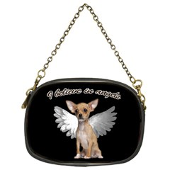 Angel Chihuahua Chain Purses (one Side)  by Valentinaart