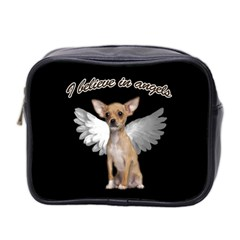 Angel Chihuahua Mini Toiletries Bag 2 Side by Valentinaart