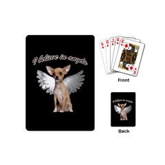 Angel Chihuahua Playing Cards (mini)  by Valentinaart