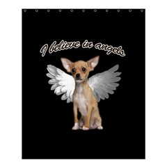Angel Chihuahua Shower Curtain 60  X 72  (medium)  by Valentinaart