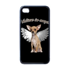 Angel Chihuahua Apple Iphone 4 Case (black) by Valentinaart