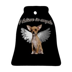 Angel Chihuahua Bell Ornament (two Sides) by Valentinaart