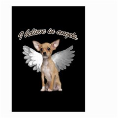 Angel Chihuahua Small Garden Flag (two Sides) by Valentinaart