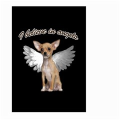 Angel Chihuahua Large Garden Flag (two Sides) by Valentinaart