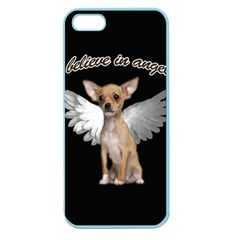 Angel Chihuahua Apple Seamless Iphone 5 Case (color) by Valentinaart