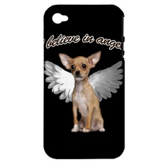 Angel Chihuahua Apple Iphone 4/4s Hardshell Case (pc+silicone) by Valentinaart
