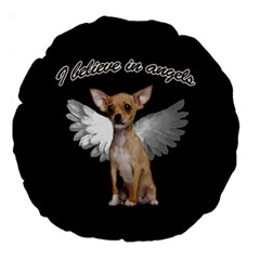Angel Chihuahua Large 18  Premium Round Cushions by Valentinaart