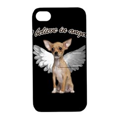 Angel Chihuahua Apple Iphone 4/4s Hardshell Case With Stand by Valentinaart