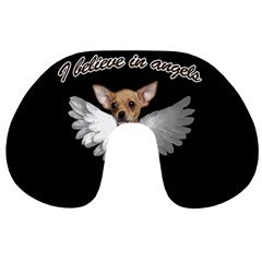 Angel Chihuahua Travel Neck Pillows by Valentinaart