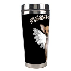 Angel Chihuahua Stainless Steel Travel Tumblers by Valentinaart
