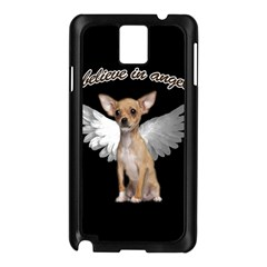 Angel Chihuahua Samsung Galaxy Note 3 N9005 Case (black) by Valentinaart