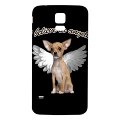 Angel Chihuahua Samsung Galaxy S5 Back Case (white) by Valentinaart