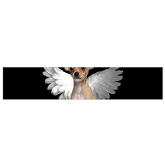 Angel Chihuahua Flano Scarf (small) by Valentinaart