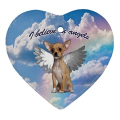 Angel Chihuahua Ornament (heart) by Valentinaart