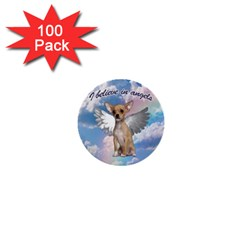 Angel Chihuahua 1  Mini Buttons (100 Pack)  by Valentinaart