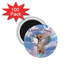 Angel Chihuahua 1 75  Magnets (100 Pack)  by Valentinaart