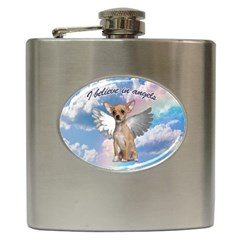 Angel Chihuahua Hip Flask (6 Oz) by Valentinaart