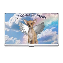 Angel Chihuahua Business Card Holders by Valentinaart
