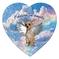 Angel Chihuahua Jigsaw Puzzle (heart) by Valentinaart