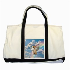 Angel Chihuahua Two Tone Tote Bag by Valentinaart