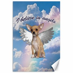 Angel Chihuahua Canvas 24  X 36  by Valentinaart