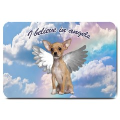 Angel Chihuahua Large Doormat  by Valentinaart