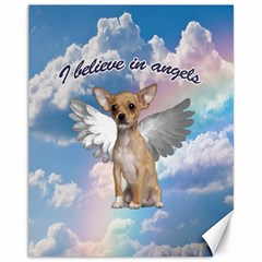 Angel Chihuahua Canvas 11  X 14   by Valentinaart