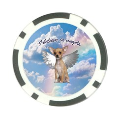 Angel Chihuahua Poker Chip Card Guard (10 Pack) by Valentinaart
