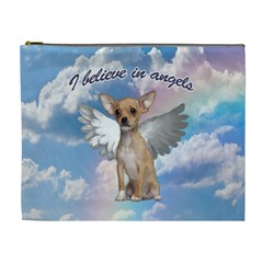 Angel Chihuahua Cosmetic Bag (xl) by Valentinaart