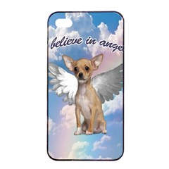 Angel Chihuahua Apple Iphone 4/4s Seamless Case (black) by Valentinaart