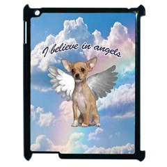 Angel Chihuahua Apple Ipad 2 Case (black) by Valentinaart