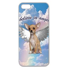 Angel Chihuahua Apple Seamless Iphone 5 Case (clear) by Valentinaart