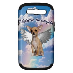 Angel Chihuahua Samsung Galaxy S Iii Hardshell Case (pc+silicone) by Valentinaart
