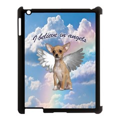 Angel Chihuahua Apple Ipad 3/4 Case (black) by Valentinaart