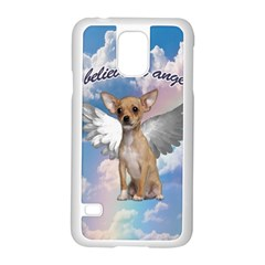 Angel Chihuahua Samsung Galaxy S5 Case (white) by Valentinaart