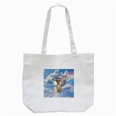 Angel Chihuahua Tote Bag (white) by Valentinaart