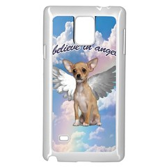 Angel Chihuahua Samsung Galaxy Note 4 Case (white) by Valentinaart
