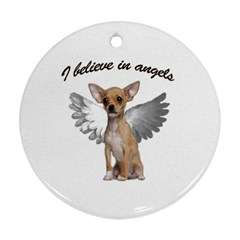 Angel Chihuahua Ornament (round) by Valentinaart