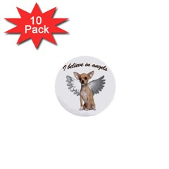 Angel Chihuahua 1  Mini Buttons (10 Pack)  by Valentinaart
