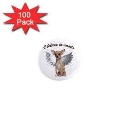 Angel Chihuahua 1  Mini Magnets (100 Pack)  by Valentinaart