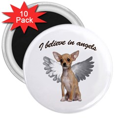 Angel Chihuahua 3  Magnets (10 Pack)  by Valentinaart