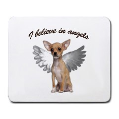 Angel Chihuahua Large Mousepads by Valentinaart